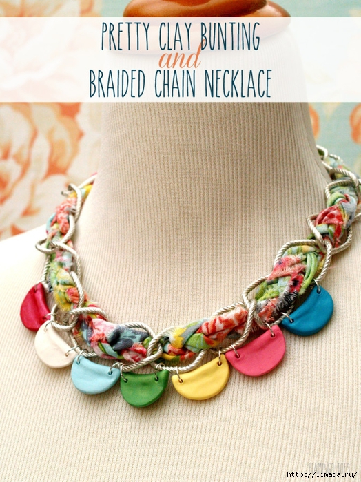 Pretty-Clay-Bunting-and-Braided-Chain-Necklace-674x900 (524x700, 337Kb)