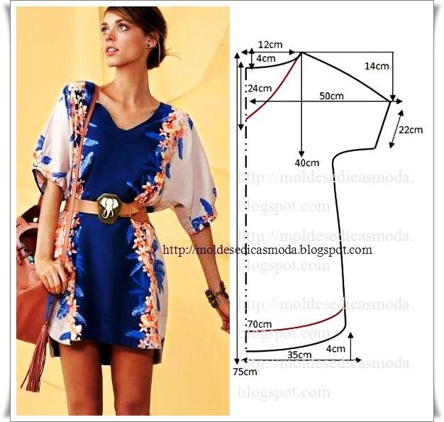 простые выкройки туники платья