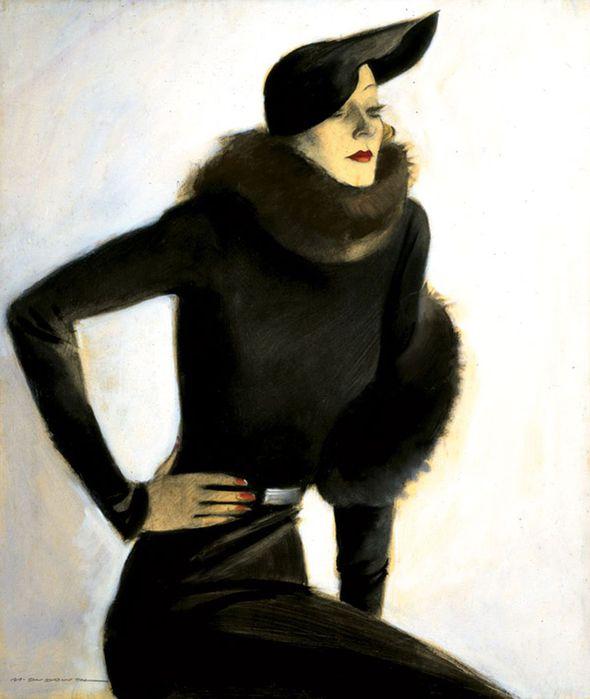 1Marcello Dudovich, Ritratto di signora, c. 1935 (590x700, 41Kb)