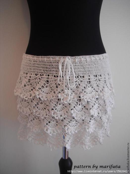 Летняя вязаная юбка схема: