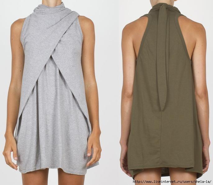 Выкройка для короткого трикотажного платья