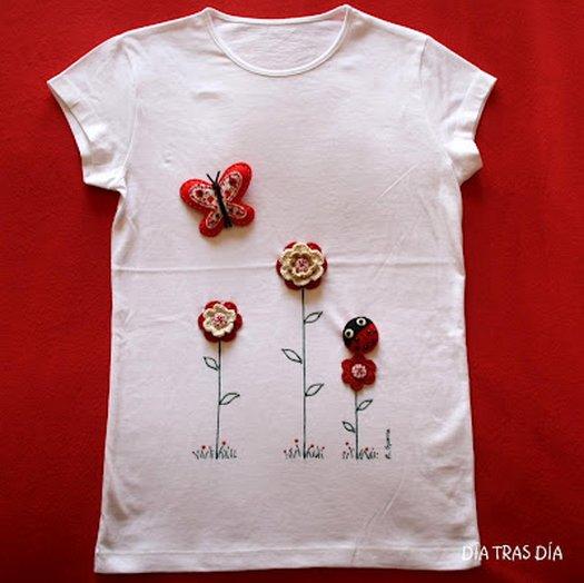 Декорируем футболки своими руками