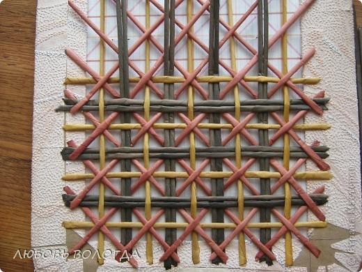 Плетение из газет. Мастер-класс на крышку с цветным узором из трубочек (11) (520x390, 247Kb)