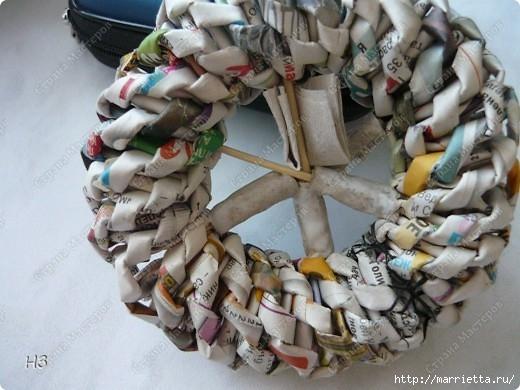 Плетение из газет. Велосипед. Мастер-класс (3) (520x390, 135Kb)