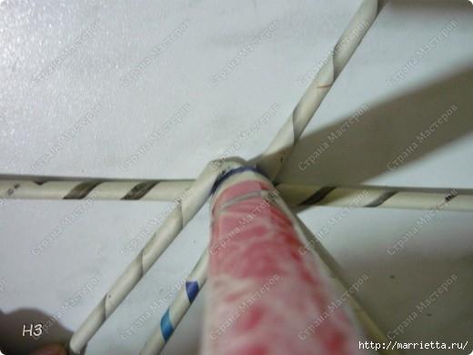 Плетение из газет. Велосипед. Мастер-класс (9) (520x390, 88Kb)