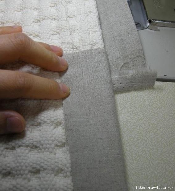 Окантовка лоскутного панно и одеяла. Фото мастер-класс (9) (567x620, 168Kb)