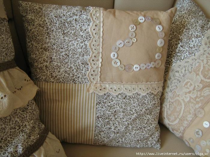 Подушки с кружевом фото