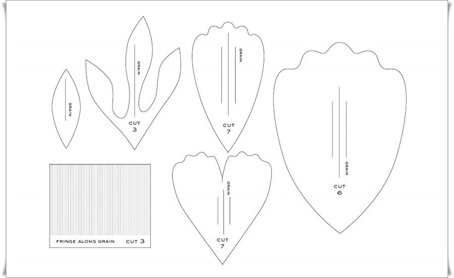 Шаблоны цветов из гофрированной бумаги своими руками