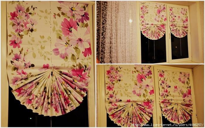 Как сделать рулонные шторы своими руками фото