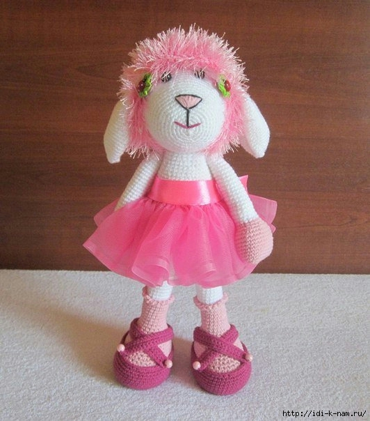 как связать овечку шанни, вязаная овечка, схема вязания овечки, вязаная овца,