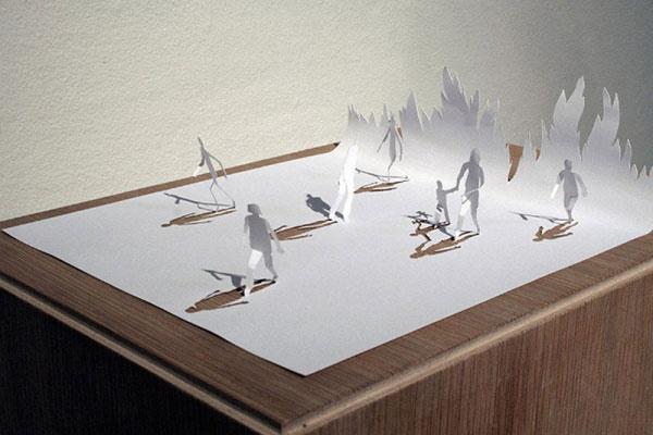 скульптуры из бумаги Питера Каллесена 4 (600x400, 126Kb)