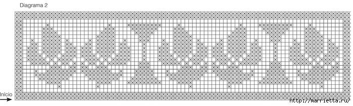 Обвязка крючком постельного белья. Схема (2) (700x210, 147Kb)