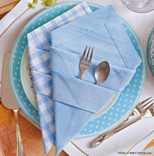Складывание салфеток для сервировки стола (1) (537x543, 182Kb)