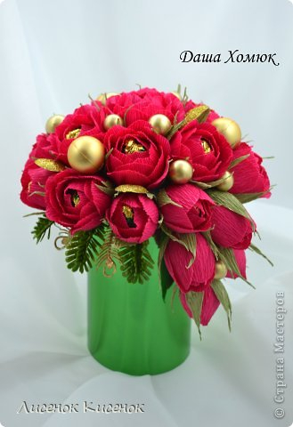 Свит-дизайн. Розы из гофрированной бумаги (17) (329x480, 115Kb)