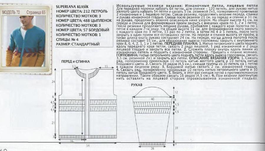 Расчет для вязания проймы и оката рукава вязание 186