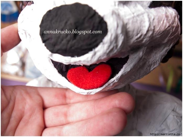 Minnie Mouse hecha de papel maché y granos de café.  Clase magistral (22) (700x526, 212KB)