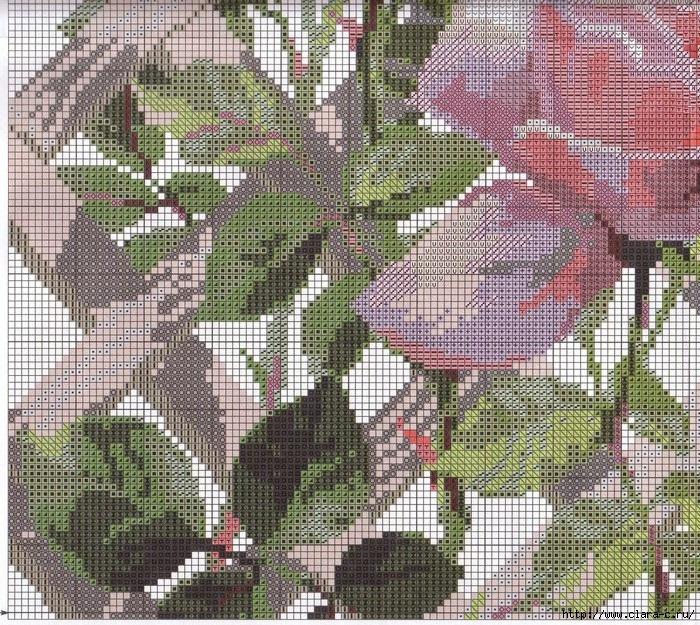 Stitchart-roza-na-reshetke3 (700x625, 523Kb)