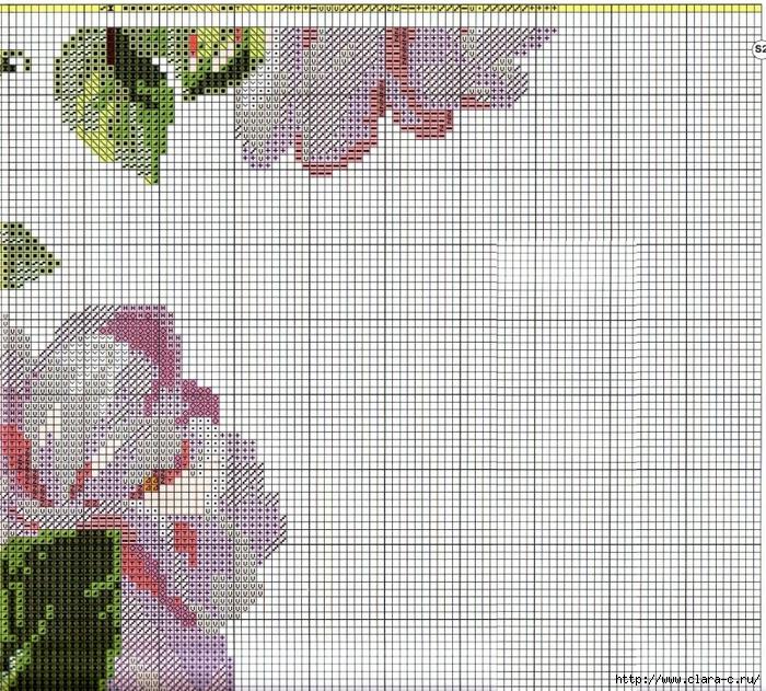 Stitchart-roza-na-reshetke6 (700x631, 511Kb)