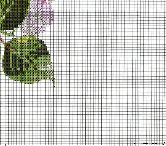 Stitchart-roza-na-reshetke8 (700x616, 460Kb)