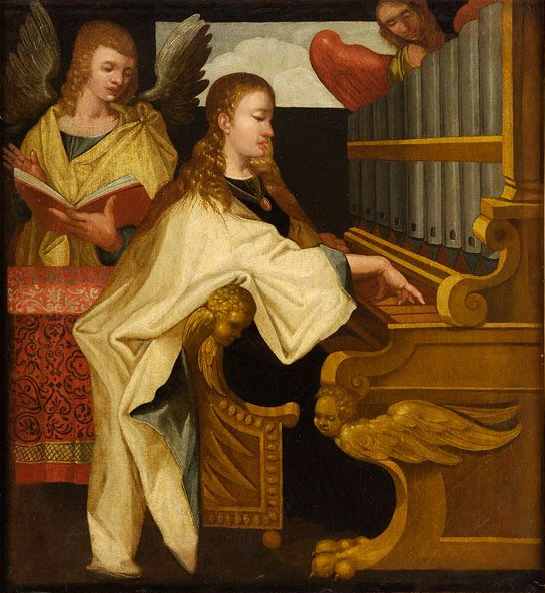 Saint_Cecilia_at_the_organ_anonymous (545x593, 201Kb)