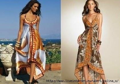 Платье из платков своими руками фото