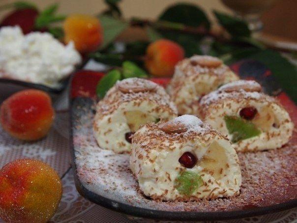 Роллы из творога с фруктами (604x453, 51Kb)