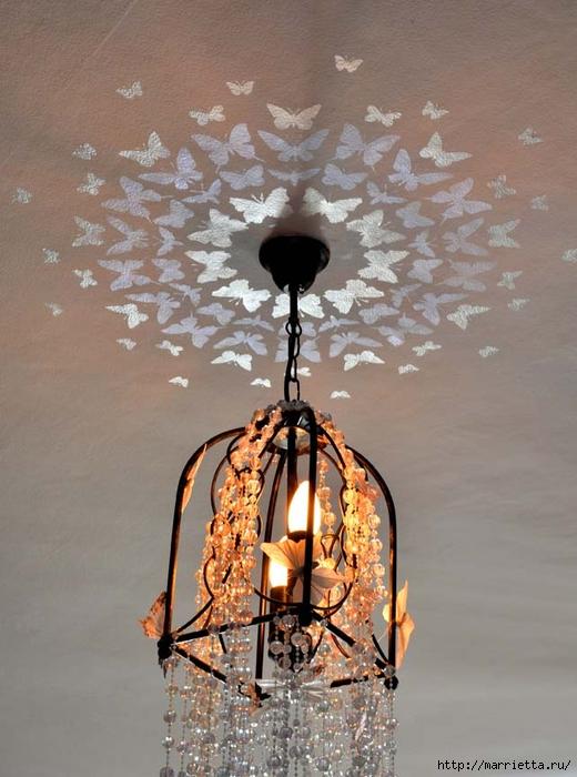 Порхающие бабочки в интерьере. Трафареты для стен и потолка (1) (520x700, 246Kb)