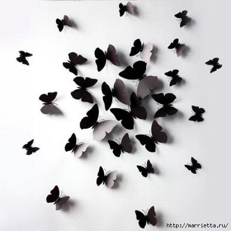 Порхающие бабочки в интерьере. Трафареты для стен и потолка (4) (450x450, 65Kb)