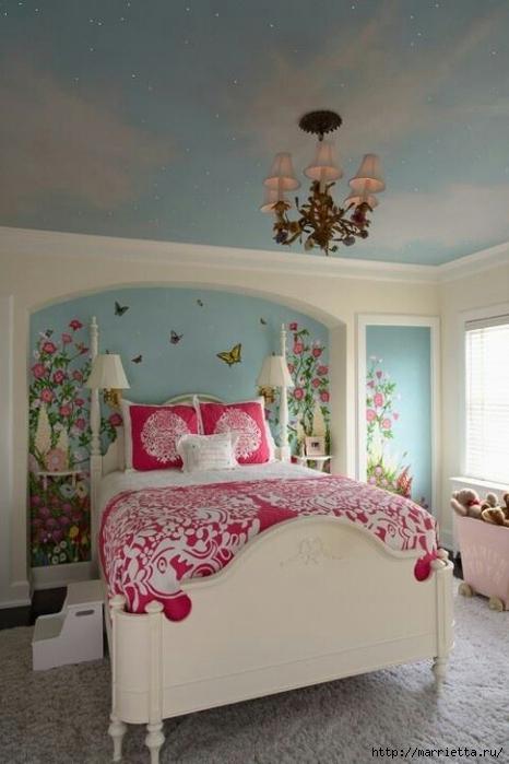 Порхающие бабочки в интерьере. Трафареты для стен и потолка (6) (466x700, 188Kb)