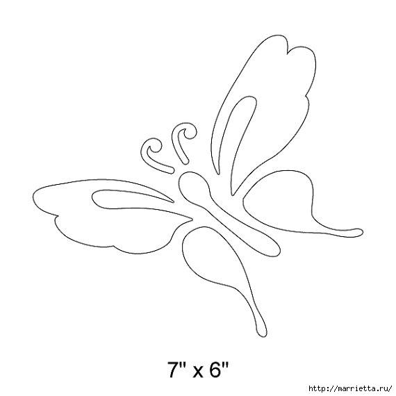 Порхающие бабочки в интерьере. Трафареты для стен и потолка (32) (570x570, 48Kb)