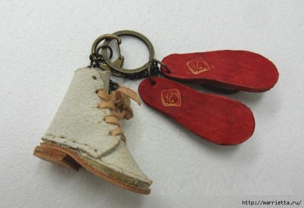 Кожа в миниатюре. Шаблон ботиночек (1) (619x423, 117Kb)