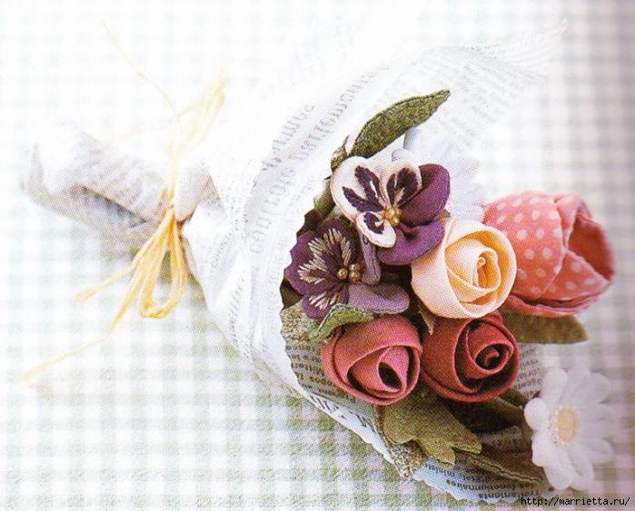 Цветы из ткани для текстильного букетика (9) (700x563, 326Kb)