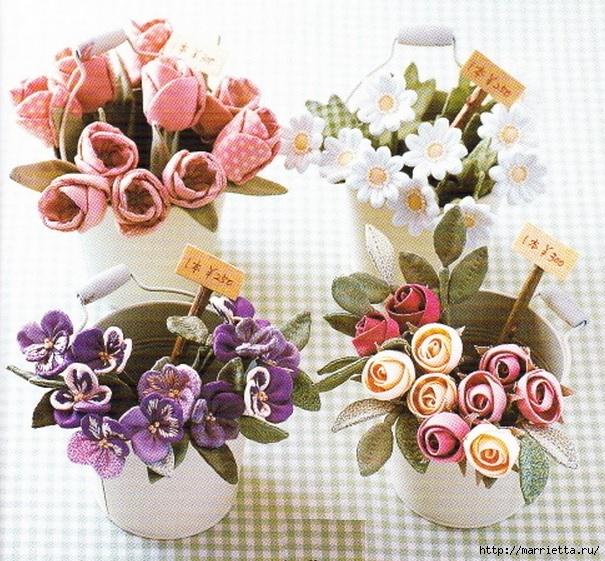 Цветы из ткани для текстильного букетика (13) (605x561, 310Kb)