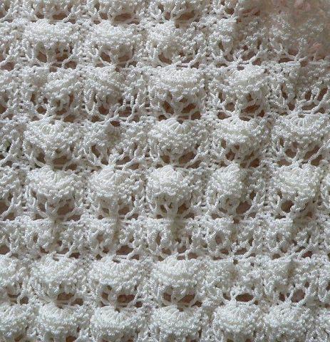 вязание спицами ракушек.