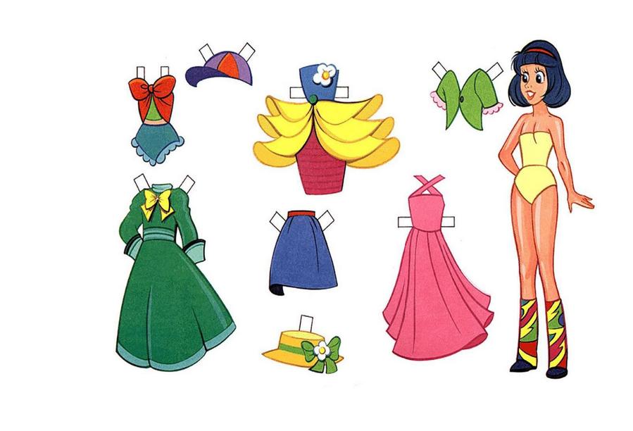 Бумажная одежда для кукол