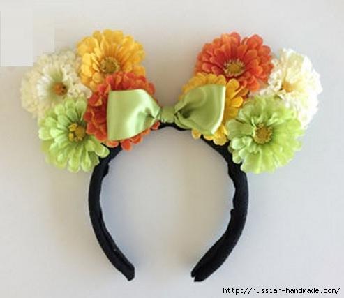 Ободок с цветочными ушками для детского утренника (5) (493x427, 91Kb)