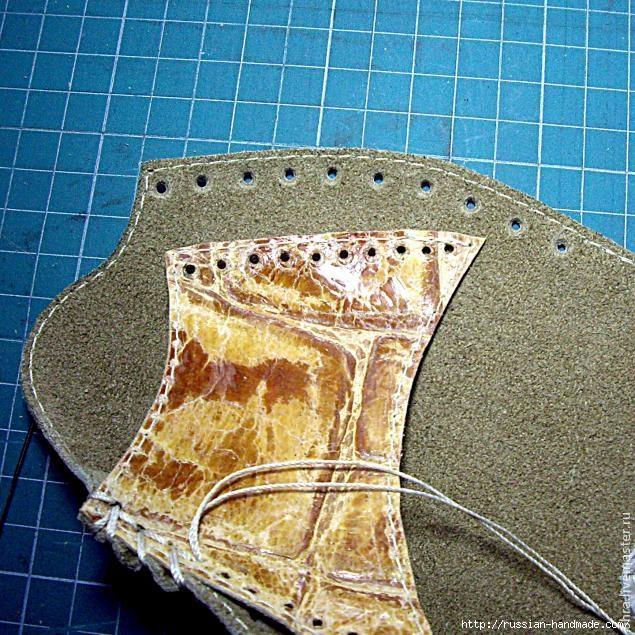 Как сшить летние тапочки-следочки из кожи. Мастер-класс (4) (635x635, 349Kb)