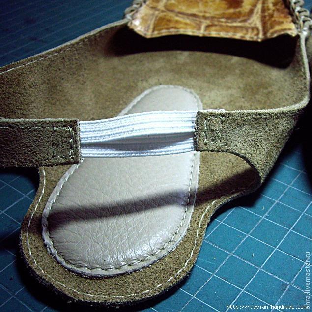 Как сшить летние тапочки-следочки из кожи. Мастер-класс (8) (635x635, 262Kb)