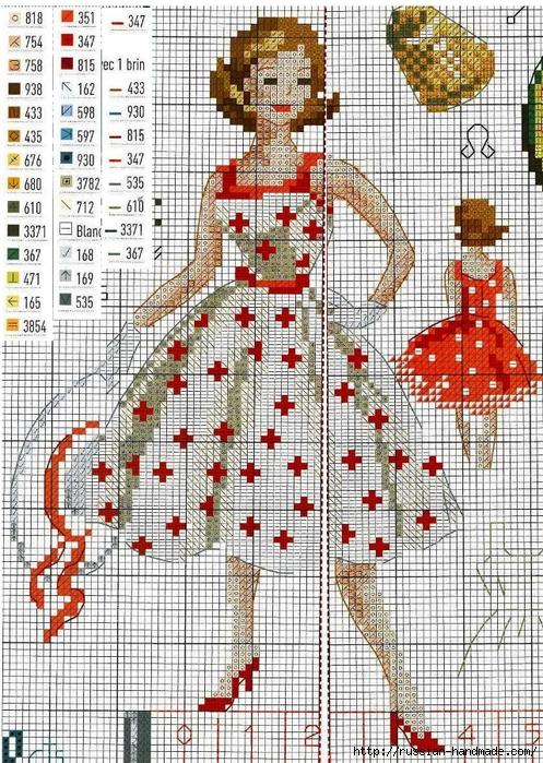 Схема вышивки МОДНИЦА-портниха (2) (497x700, 442Kb)