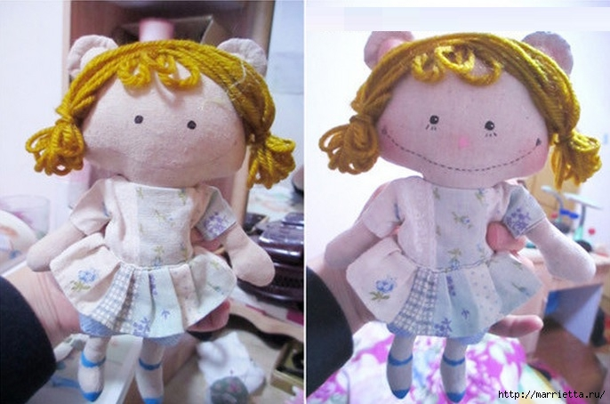 Шьем маленькую куколку. Фото мастер-класс (7) (686x454, 177Kb)