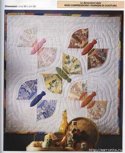 Лоскутные панно с бабочками (4) (436x533, 169Kb)