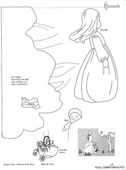 Лоскутное шитье. Журнал Bonnet Girls (6) (510x690, 104Kb)