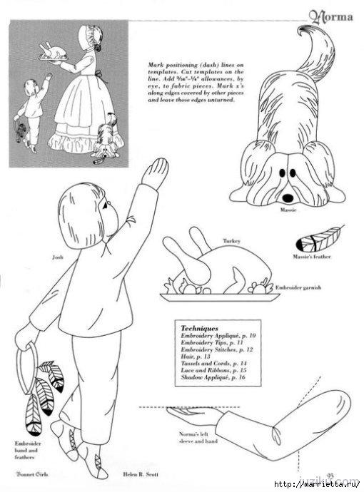 Лоскутное шитье. Журнал Bonnet Girls (23) (510x690, 131Kb)