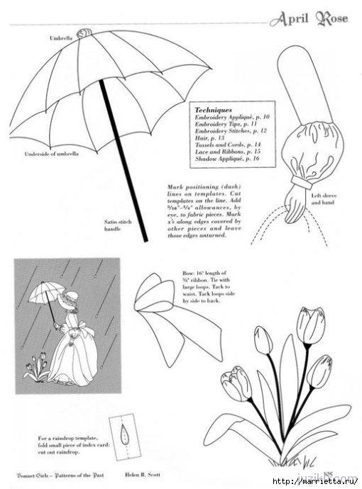 Лоскутное шитье. Журнал Bonnet Girls (27) (510x690, 124Kb)