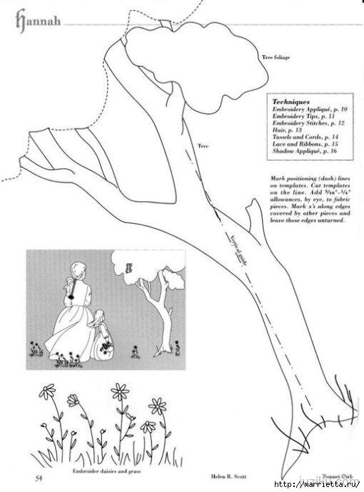 Лоскутное шитье. Журнал Bonnet Girls (50) (510x690, 111Kb)