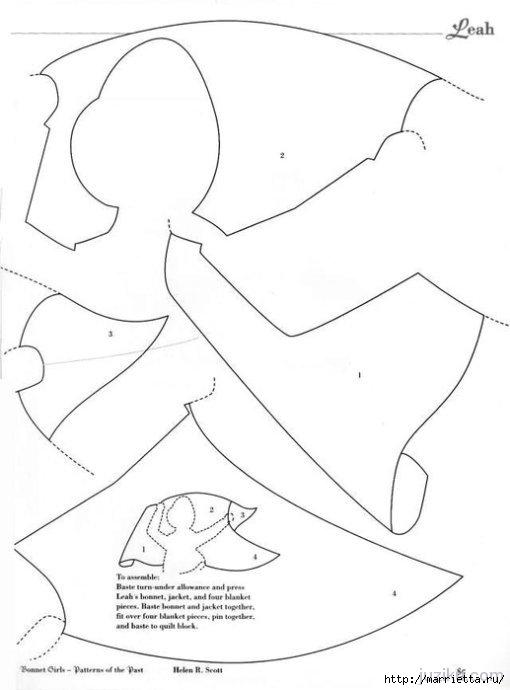 Лоскутное шитье. Журнал Bonnet Girls (53) (510x690, 85Kb)