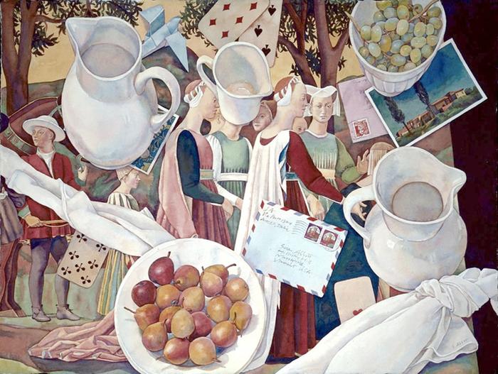 Piero, Fruit, Pitchers (700x527, 522Kb)