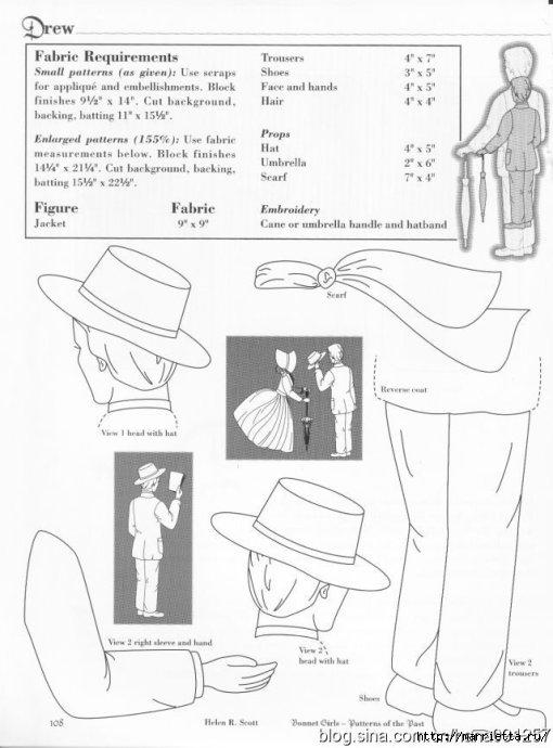 Лоскутное шитье и аппликация. Журнал Bonnet Girls (2) (510x690, 140Kb)