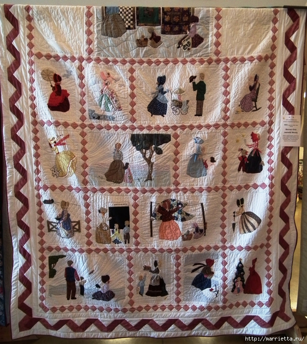 Лоскутное шитье и аппликация. Журнал Bonnet Girls (4) (624x700, 446Kb)