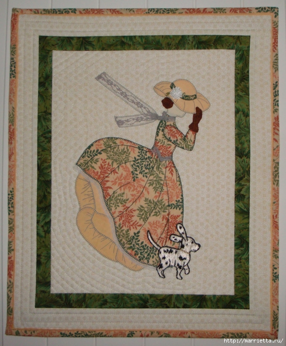 Лоскутное шитье и аппликация. Журнал Bonnet Girls (12) (579x700, 346Kb)